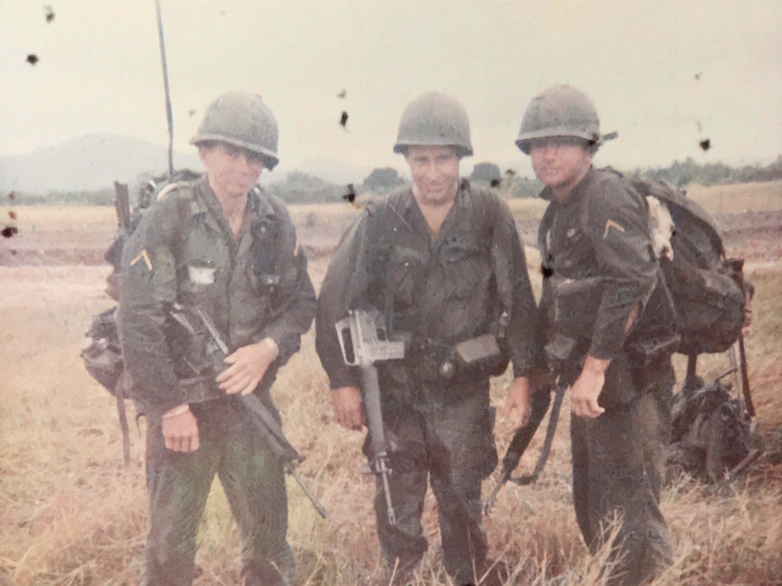 Dennis Stout (on right) in Vietnam in 1967